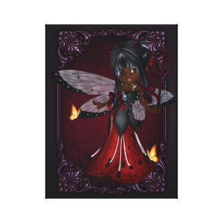 Little Devil Ladybug Design 4 Wrapped Canvas Gallery Wrapped Canvas