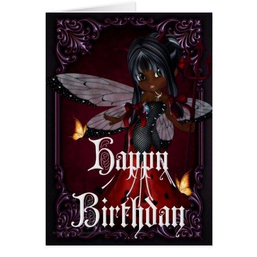 Little Devil Ladybug Design 4b Happy Birthday Card