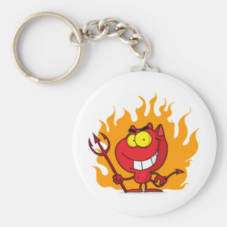 Little Devil With Fire Key Ring