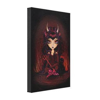 Little Devil Wrapped Canvas Print