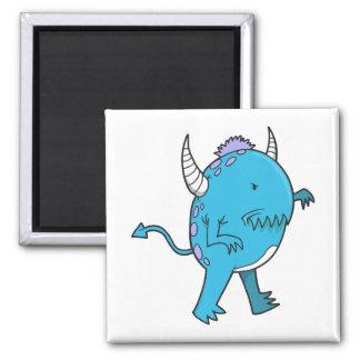 little devilish blue chomper monster fridge magnet