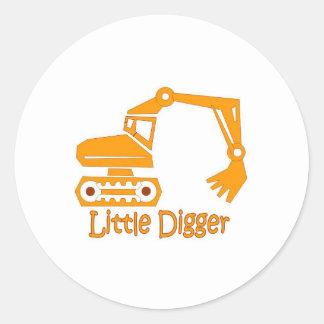 little digger round sticker
