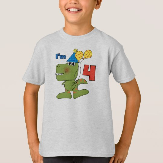 Little Dino 4th Birthday Tshirts and Gifts