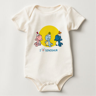 Little Dino Baby Suit Baby Bodysuit
