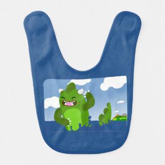 Little dinosaur bib