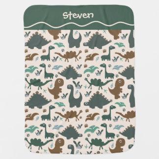 Little Dinosaurs Baby Blanket