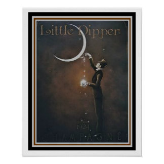 Little Dipper Champagne Vintage Ad Poster 16 x 20