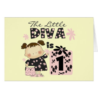 Little Diva 1st Birthday Tshirts and Gifts Card