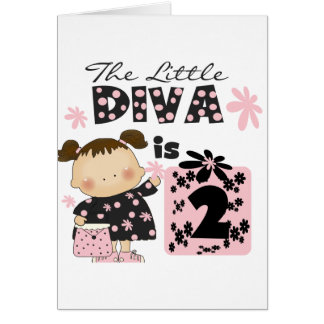 Little Diva 2nd Birthday Tshirts and Gifts Card