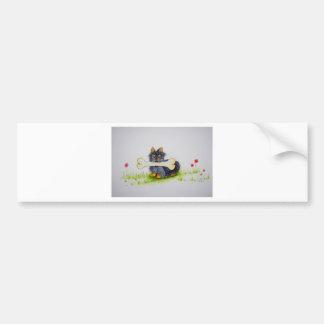 Little Dog Big Bone ( Yorkshire terrier ) Bumper Sticker