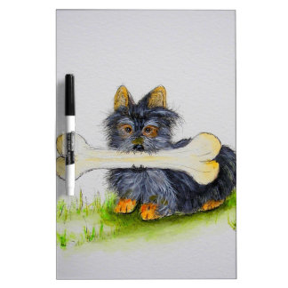 Little Dog Big Bone ( Yorkshire terrier ) Dry-Erase Whiteboards
