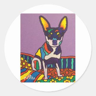 Little Dog Round Sticker