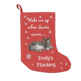 Little Donkey Snowflakes Red