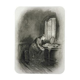 Little Dorrit, from 'Charles Dickens: A Gossip abo Rectangular Photo Magnet