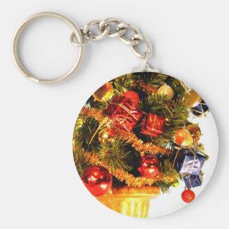 Little Drum Tree I Basic Round Button Key Ring