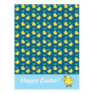 Little Ducks Happy Easter Postcard