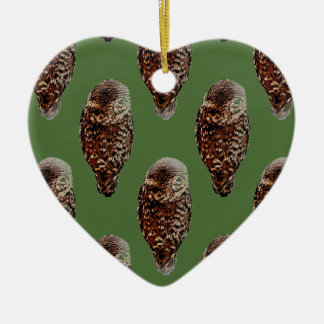 Little Eagle Ceramic Heart Decoration