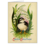 Little Easter Bird Vintage Greeting Card