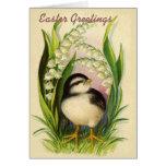 Little Easter Bird Vintage Greeting Card