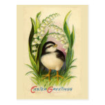 Little Easter Bird Vintage Postcard