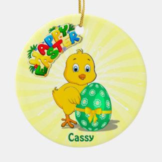 Little Easter Chicken Cartoon Christmas Ornament