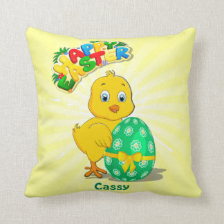 Little Easter Chicken Cartoon Cushion