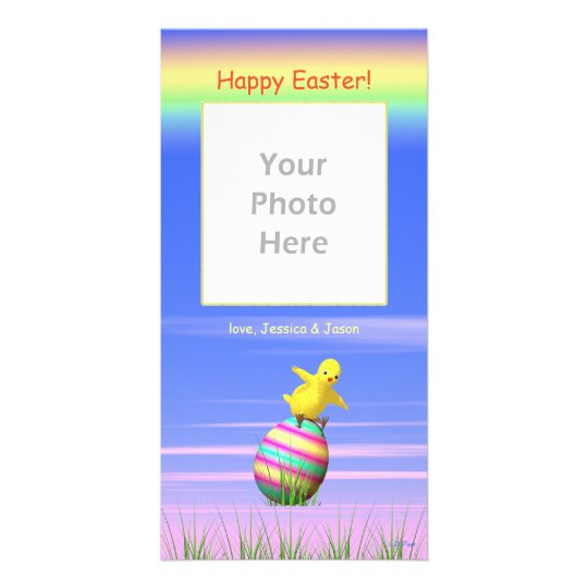 Little Easter Chicken Wings Photo Cards