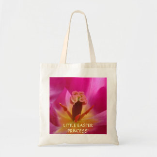 Little Easter Princess tote bag gifts Pink Tulip