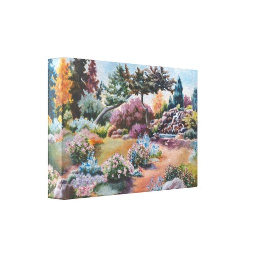 Little Eden Wrapped Canvas Print