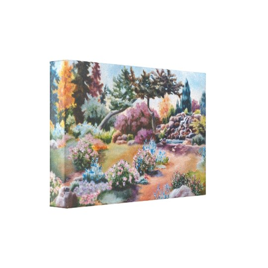 Little Eden Wrapped Canvas Print