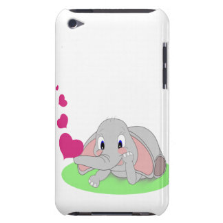 Little Elephant Blowing Pink Hearts Barely There iPod Cover