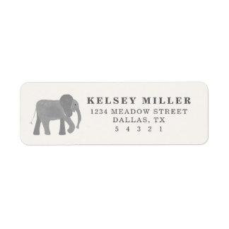 Little Elephant Return Address Label