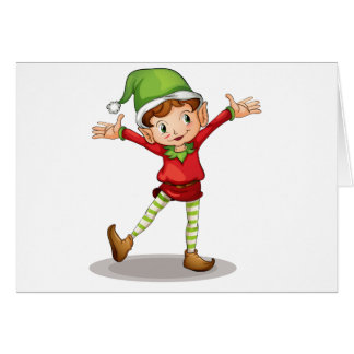 Little elf greeting card