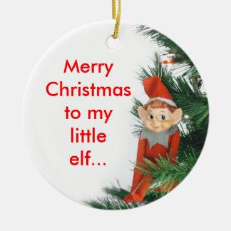 Little Elf Christmas Ornament