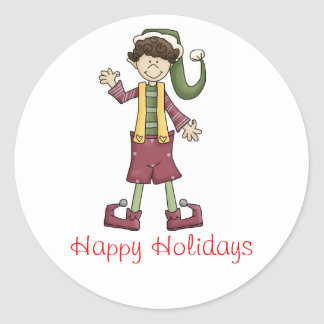 Little Elf Happy Holidays Stickers