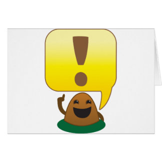 little exclamation greeting card