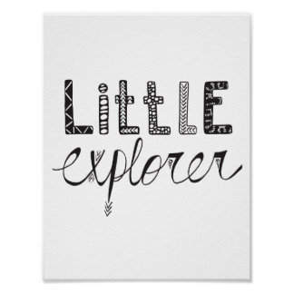 Little Explorer - Nursery or Kids Room Poster