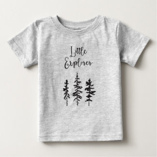 Little Explorer, Woodland Trees Baby Shirt