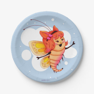 "LITTLE FAIRY 1 CARTOON  Paper Plates 7"" 2 7 Inch Paper Plate"