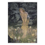 Little Fairy Angel and Girl Greeting Card