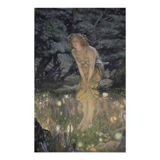 Little Fairy Angel and Girl Print