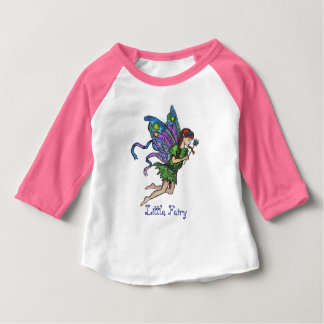 """Little Fairy"" - Baby, 3/4 Sleeve Raglan T-Shirt"