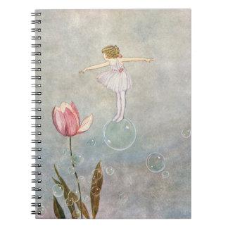 Little Fairy on a Bubble Notebook