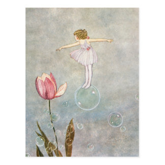 Little Fairy on a Bubble Postcard