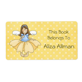 Little Fairy Princess Bookplate Label Shipping Label
