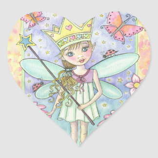 Little Fairy Princess Heart Stickers