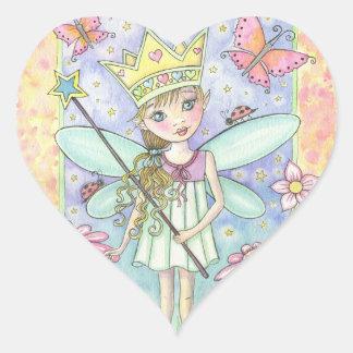 Little Fairy Princess Heart Stickers