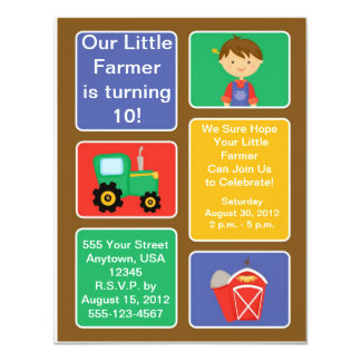 Little Farmer Party Invitations