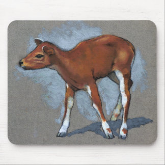 Little Fawn: Oil Pastel Painting Mousepads