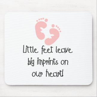 Little Feet Big Imprints Pink Mouse Pad
